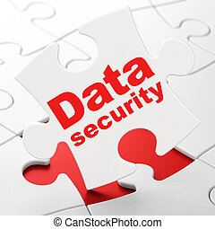Safety concept: Data Security on puzzle background