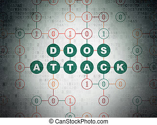 Safety concept: DDOS Attack on Digital Data Paper background