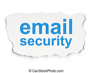 Safety concept: Email Security on Paper background - Safety...