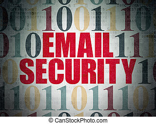 Safety concept: Email Security on Digital Paper background