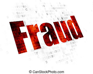 Safety concept: Fraud on Digital background