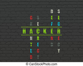 Safety concept: Hacker in Crossword Puzzle