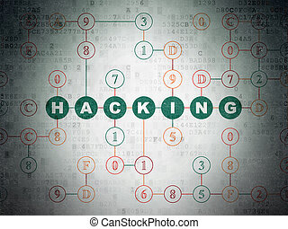 Safety concept: Hacking on Digital Data Paper background
