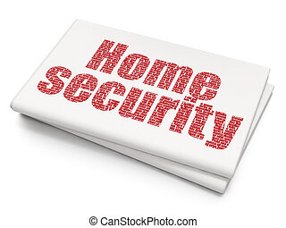 Safety concept: Home Security on Blank Newspaper background