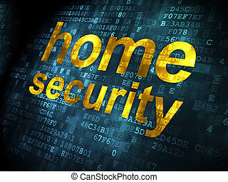 Safety concept: Home Security on digital background - Safety...