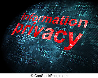 Safety concept: Information Privacy on digital background