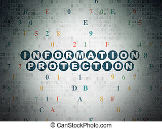 Safety concept: Information Protection on Digital Data Paper background