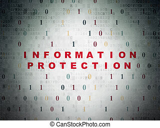 Safety concept: Information Protection on Digital Paper background