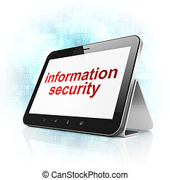Safety concept: Information Security on tablet pc computer