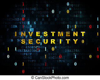 Safety concept: Investment Security on Digital background