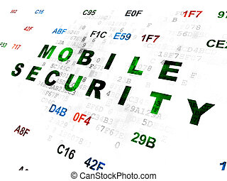 Safety concept: Mobile Security on Digital background