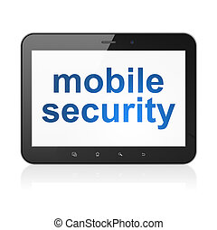 Safety concept: Mobile Security on tablet pc computer