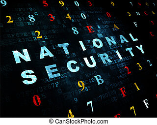 Safety concept: National Security on Digital background