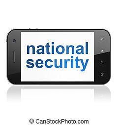 Safety concept: National Security on smartphone