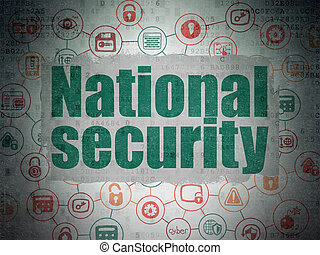 Safety concept: National Security on Digital Data Paper background
