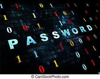 Safety concept: Password on Digital background