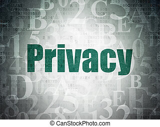 Safety concept: Privacy on Digital Data Paper background