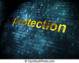Safety concept: Protection on digital background