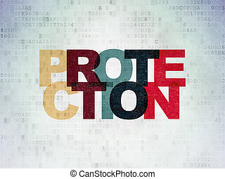 Safety concept: Protection on Digital Data Paper background