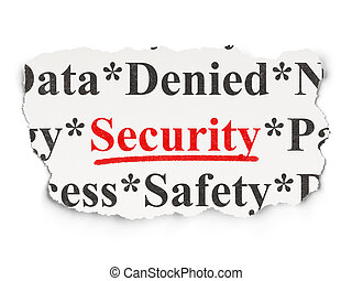 Safety concept: Security on Paper background