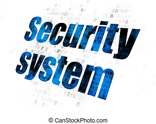 Safety concept: Security System on Digital background