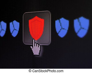 Safety concept: Shield on digital computer screen