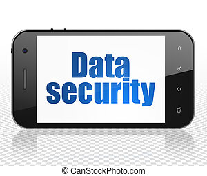 Safety concept: Smartphone with Data Security on display