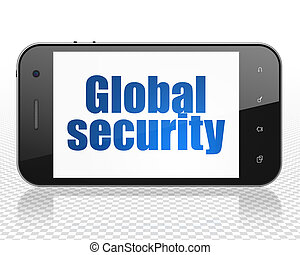 Safety concept: Smartphone with Global Security on display