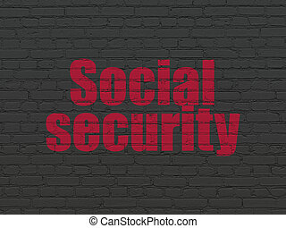 Safety concept: Social Security on wall background
