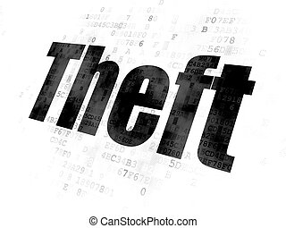 Safety concept: Theft on Digital background
