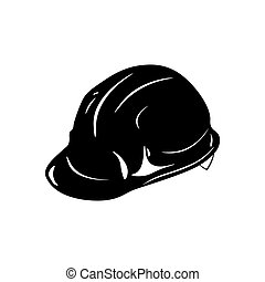 Safety constructions helmet. hard hat. Vector illustration isolated on white