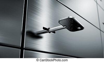 safety deposit boxes, 3d image