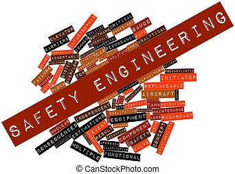 Safety engineering - Abstract word cloud for Safety...