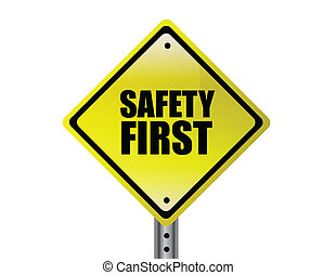 Safety first illustration design