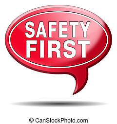 safety first rules for security at work and safe and healthy...