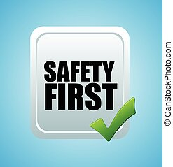 Safety First Vector Banner