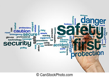 Safety first word cloud