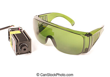 Safety glasses for laser beam protection and high power laser isolated