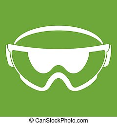 Safety glasses icon green