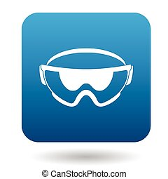 Safety glasses icon in simple style