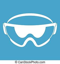 Safety glasses icon white