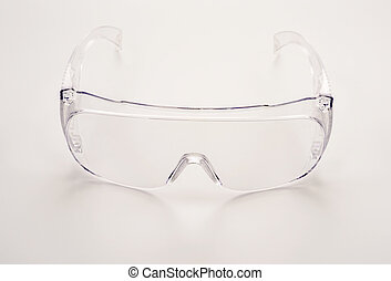 Safety glasses isolated object