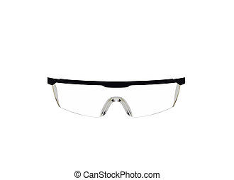 Safety glasses isolated on a white background.