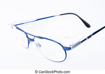 safety glasses isolated on white