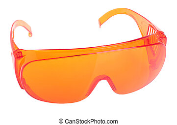 Safety glasses - orange safety glasses for patient/other...