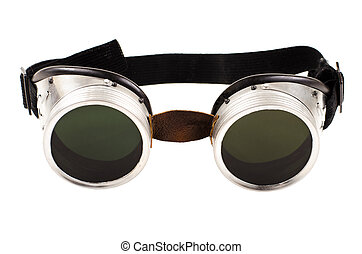 safety glasses - photo blak welded protective spectacles on...
