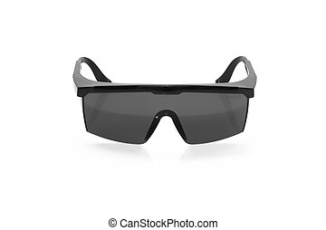 Safety glasses isolated on a white background