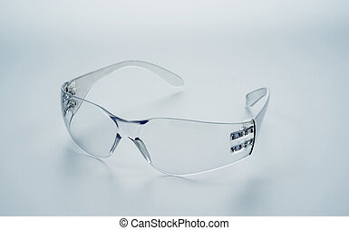 Safety Glasses - Safety glasses isolated object