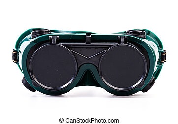 Goggles - Safety Goggles on isolated white background