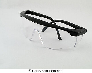 Safety Goggles on White